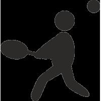Силуэт человека играющего в теннисс