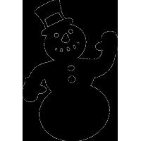 Машущий Снеговик в шляпе