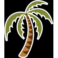 Пальма наклонённая влево