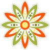 Разноцветный цветок лотоса