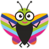 Веселая бабочка