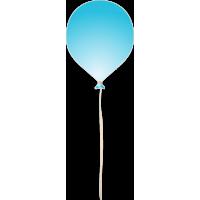 Голубой воздушный шар