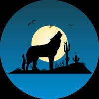 Волк воющий на луну