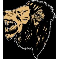 Голова рычащего льва