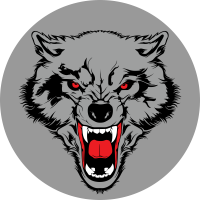 Оскалившийся волк