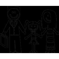 Семья - папа, мама, дочь