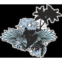 Серфер, пальмы