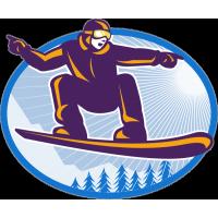 Сноубордист в прыжке