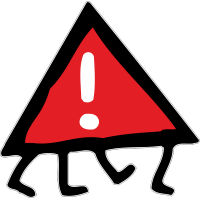 Знак опасности на ножках