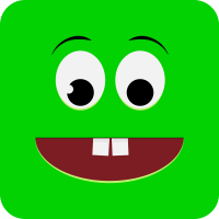 Удивленный зеленый смайлик