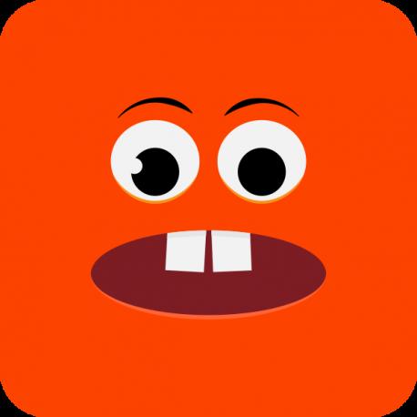 Озадаченный оранжевый смайлик