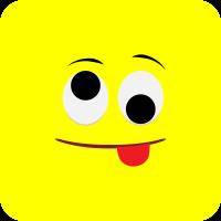 Жёлтый смайлик показывает язык