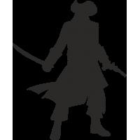 Пират с саблей и пистолетом