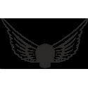 Череп с крыльями