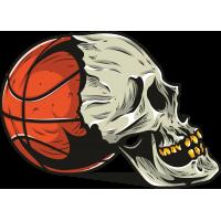 Череп баскетбольным мячом