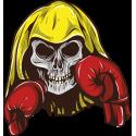 Череп с боксерскими перчатками
