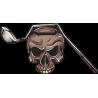 Череп с клюшкой для гольфа