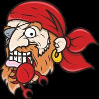 Пират с крабом у зубах