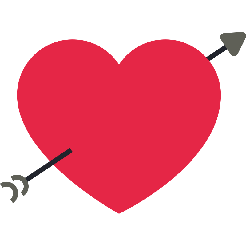 Приколы, открытка стрела сердце