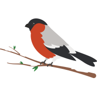 Птица сидящая на ветке