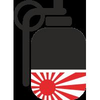 Hand Grenade JDM - Ручная граната с флагом императорского японского флота