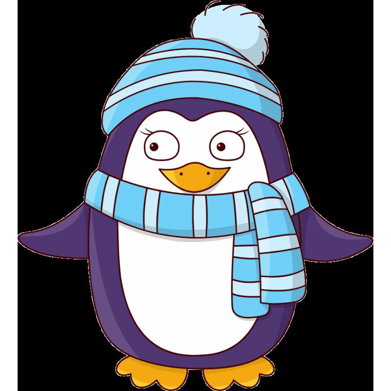 картинка пингвин новогодняя