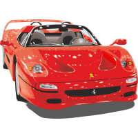 Красный кабриолет Феррари