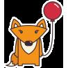 Лиса с воздушным шариком