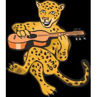 Леопард играет на гитаре