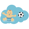 Ребёнок Футболист. Знак для автомобиля (Baby on board).