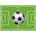 Футбольный мяч и поле