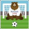 Медведь - вратарь на футбольном поле