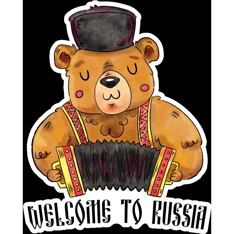 Медведь с балалайкой картинка