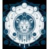 Тату Медведь Космический Эзотерический Геометрический Расписной Хипстер