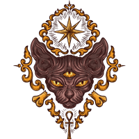 Египетский Кот Эзотерический Магический Тату