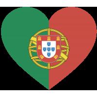 Сердце Флаг Португалии (Португальский Флаг в форме сердца)