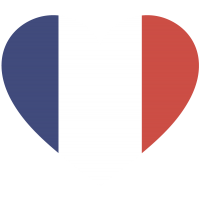 Сердце Флаг Франции (Французский Флаг в форме сердца)