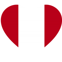 Сердце Флаг Перу (Перуанский Флаг в форме сердца)