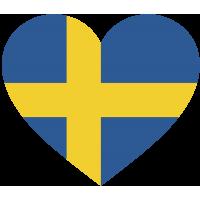 Сердце Флаг Швеции (Шведский Флаг в форме сердца)