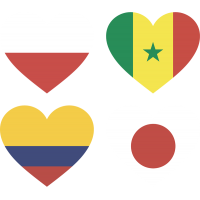 Тату Набор Группа Ч (Сердца-Флаги Стран Участников Чемпионата Мира По Футболу 2018)