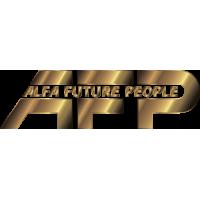 Золотой логотип AFP Alfa Future People - фестиваль электронной музыки и технологий