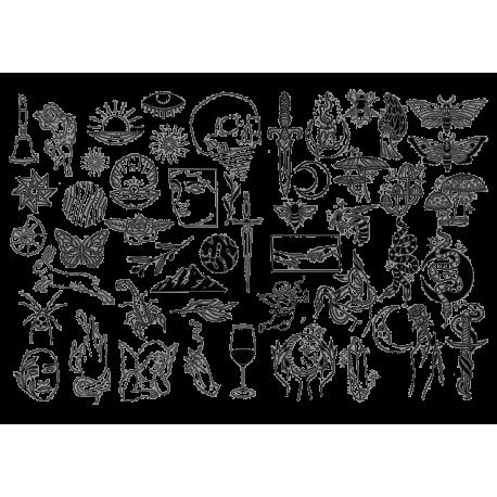 Набор татуировок Магия Фэнтези Хоррор на Хэллоуин
