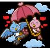 Влюбленные Птички День Святого Валентина