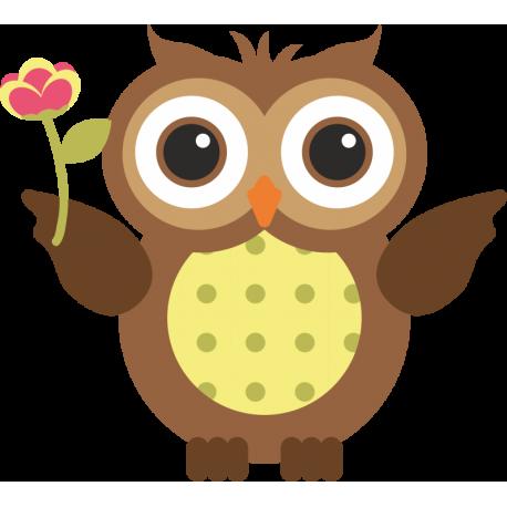 Сова с Цветком